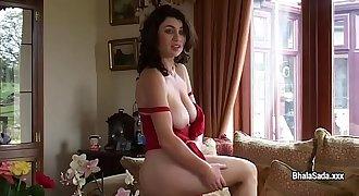 Amazing model Bhala Sada undresses and does striptease demonstrate