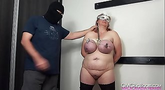 Big tits BDSM slave gets rough treatment 1080p