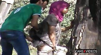 Hidden Cam Arabian Outdoor Lovemaking
