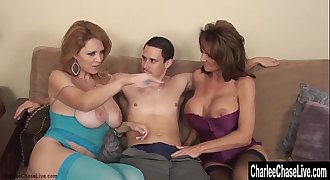 Charlee Chase Double Teams on Cock for Mummy 3Way