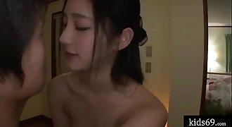 Teenager chick secrect fuck her sister's boyfriend when sleeping