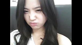 Teenage Korea masturbating in bathroom