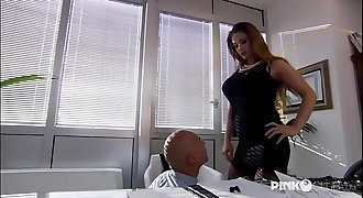 Cathy Heaven Anal invasion in office! Enormous Boobs!